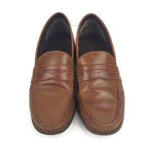 Rockport Mens Camran British Tan Penny Loafers